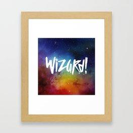 Wizard! Framed Art Print