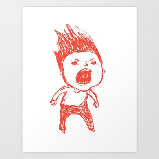 Angry Guy Art Print