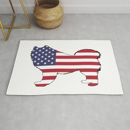 "Samoyed ""American Flag"" Rug"