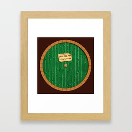 Out for an adventure Framed Art Print