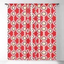 dumbbells Red-Pink #midcenturymodern Blackout Curtain