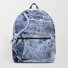 Philadelphia Pennsylvania City Street Map Backpack