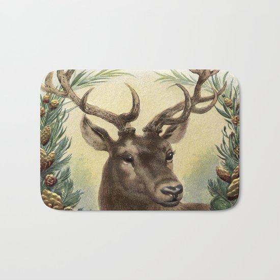 Retro Deer Bath Mat