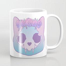 Flower Skull Cat Coffee Mug