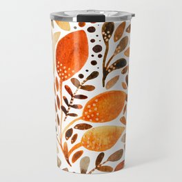 Autumn watercolor leaves Travel Mug