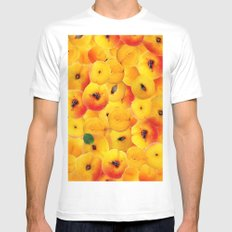 Fruit Apricot 2 MEDIUM White Mens Fitted Tee