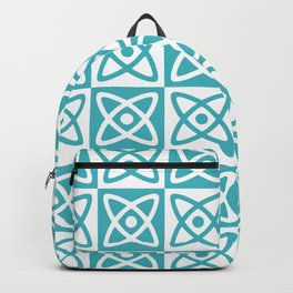 Mid Century Modern Atomic Check 140 Turquoise Backpack