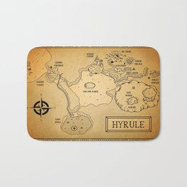 Hyrule Map  OOT Bath Mat