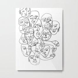 People of Work Metal Print