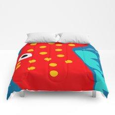 Red Fish illustration for kids Comforters