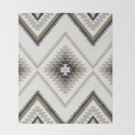 Beige Aztec Throw Blanket