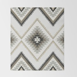 Beige Aztec Throw Blanket