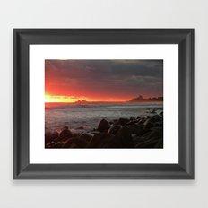 Red at night sailor's delight Framed Art Print