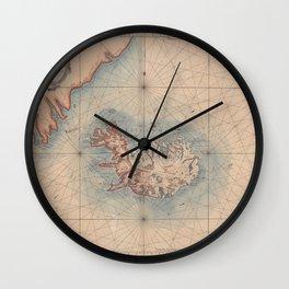 Iceland 1767 Wall Clock