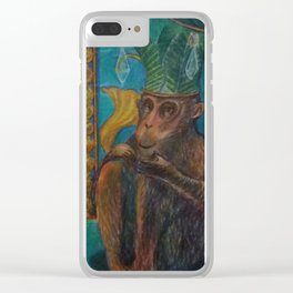 King of Monkey Clear iPhone Case