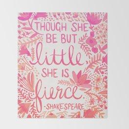 Little & Fierce – Pink Ombré Throw Blanket