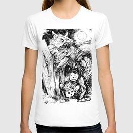 Werewolf moon on Halloween Night T-shirt