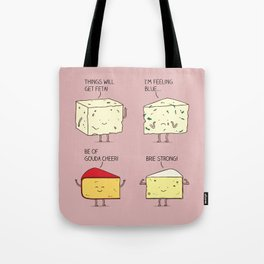 cheesy puns Tote Bag