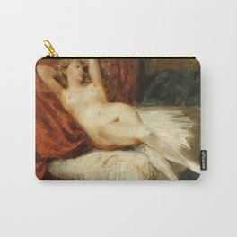 """Eugène Delacroix """"La Femme aux bas blancs (Study of Female Nude Reclining on a Divan)"""" Carry-All Pouch"""