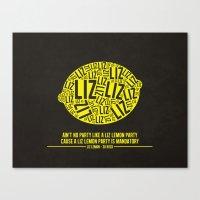 30 rock Canvas Prints featuring 30 rock - liz lemon by lissalaine