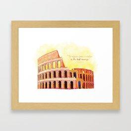 Inspirational Roman Colosseum Framed Art Print