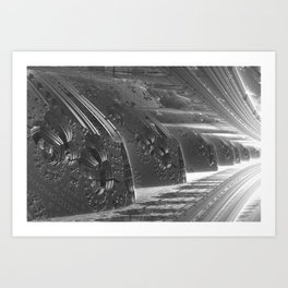 Cannon Battery (Desaturate) Art Print