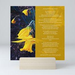Archangel Gavriel's Fallen Flowers Poem Mini Art Print