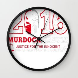 JUSTICE _ PUNISHMENT 2016 Wall Clock