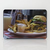 fries iPad Cases featuring Burger & Fries by OneMan Photography