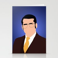 anchorman Stationery Cards featuring Brick Tamland - Anchorman by Tom Storrer