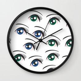 Eyes on white Wall Clock