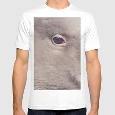 Goose White LARGE Mens Fitted Tee
