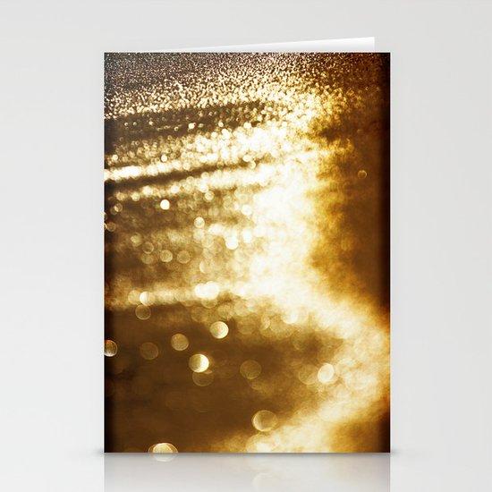 spun gold Stationery Cards