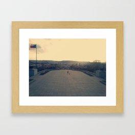 At the top/Prague Framed Art Print