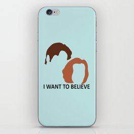I Want To Believe X-Files iPhone Skin