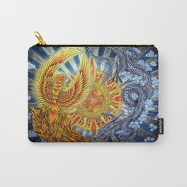 Chinese Phoenix and Dragon Mandala Carry-All Pouch