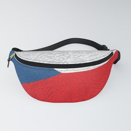 Extruded flag of the Czech Republic Fanny Pack