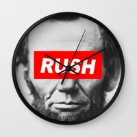 rush Wall Clocks featuring Rush by ChipperJones