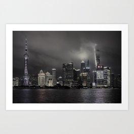 Shanghai Skyline Art Print
