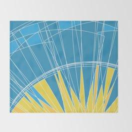 Abstract pattern, digital sunrise illustration Throw Blanket