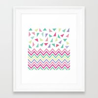 confetti Framed Art Prints featuring Confetti  by Bree Madden