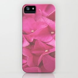 Hydrangea in Pink iPhone Case