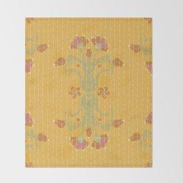 Kantha bouquet 2 Throw Blanket
