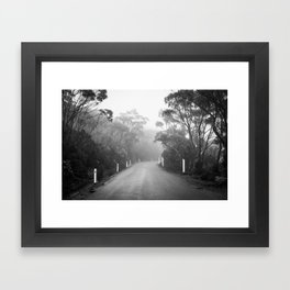 Mount Wellington Misty Road Framed Art Print