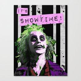 """BEETLE JUICE """"It's Showtime! Canvas Print"""