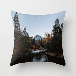 Half Dome from Sentinel Bridge Throw Pillow