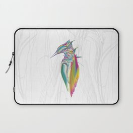 Kingfisher 1g. Full color on white background-(Red eyes series) Laptop Sleeve