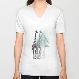 Giraffa camelopardalis Unisex V-Neck