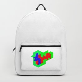 Cube Geometry Optical Illusion Puzzle Backpack