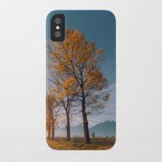 Golden trees iPhone X Slim Case